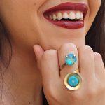 טבעת מרגנית אור טורקיז