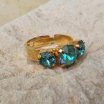 טבעת גרניום טורקיז