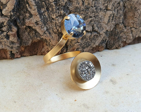 טבעת מרגנית אור אפורה