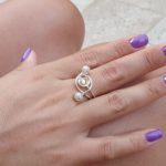 טבעת דקל כסופה