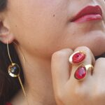 טבעת מרגנית טיפה – במבחר צבעים